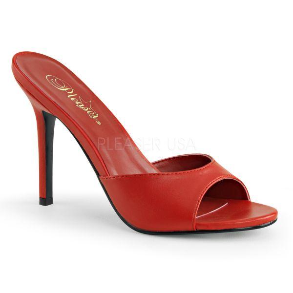 CLASSIQUE-01 Rote High Heel Pantolette